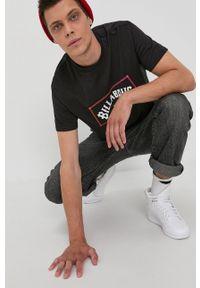 Billabong - T-shirt bawełniany. Okazja: na co dzień. Kolor: czarny. Materiał: bawełna. Wzór: nadruk. Styl: casual