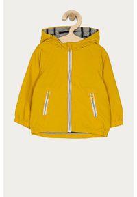 Żółta kurtka OVS casualowa, gładkie, z kapturem, na co dzień
