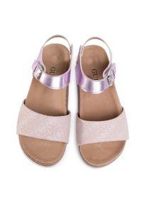 Różowe sandały Guess casualowe, na co dzień