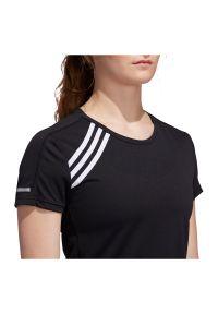 Adidas - Koszulka damska do biegania adidas 3-Stripes Run Tee FK1602. Materiał: materiał, skóra, poliester. Długość rękawa: krótki rękaw. Długość: krótkie. Sport: bieganie