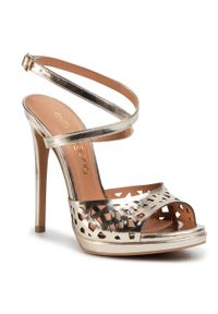 Złote sandały Eva Longoria klasyczne
