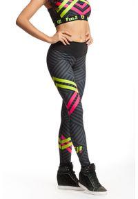 Legginsy sportowe FJ! w kolorowe wzory