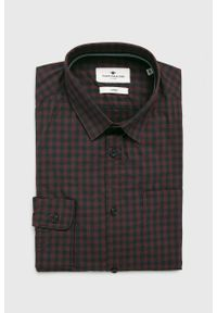 Brązowa koszula Tom Tailor Denim długa, na co dzień, klasyczna