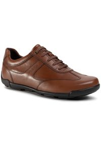 Geox Półbuty U Edgware A U023BA 043BC C6001 Brązowy. Kolor: brązowy