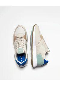 HOFF - Beżowe sneakersy Plaka. Okazja: na co dzień. Kolor: beżowy. Materiał: jeans, materiał. Wzór: nadruk