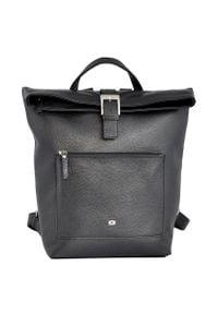 Skórzany plecak damski DAAG Native 23 czarny. Kolor: czarny. Materiał: skóra. Styl: młodzieżowy, casual