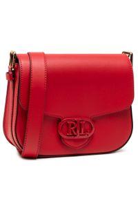 Czerwona listonoszka Lauren Ralph Lauren skórzana
