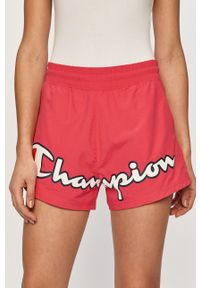 Różowe szorty Champion z nadrukiem, sportowe
