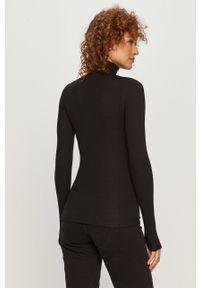 Czarny sweter Polo Ralph Lauren z długim rękawem, długi, polo