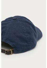 Niebieska czapka z daszkiem Polo Ralph Lauren z nadrukiem