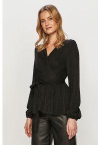 Czarna bluzka only z długim rękawem, casualowa, długa