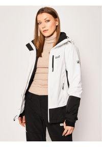 Biała kurtka sportowa Jack Wolfskin snowboardowa