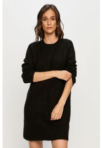 Czarna sukienka only na co dzień, casualowa, prosta, mini