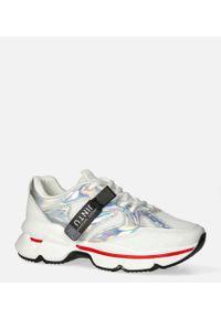 Casu - Białe buty sportowe sneakersy sznurowane casu 20g18/s. Kolor: biały