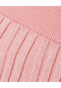 Kenzo - KENZO - Różowa plisowana spódnica. Kolor: wielokolorowy, różowy, fioletowy. Materiał: dzianina. Styl: retro