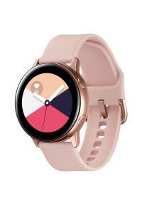 Różowy zegarek SAMSUNG sportowy, smartwatch