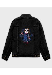 MegaKoszulki - Kurtka jeansowa damska Chucky. Materiał: jeans. Wzór: nadruk. Sezon: wiosna. Styl: klasyczny