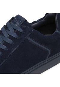 Niebieskie sneakersy Gino Rossi na co dzień, z cholewką