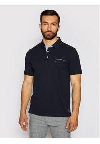 Pierre Cardin Polo 52084/000/11255 Granatowy Regular Fit. Typ kołnierza: polo. Kolor: niebieski