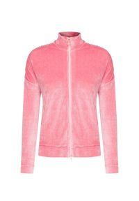 Różowa bluza Deha w kolorowe wzory, do domu