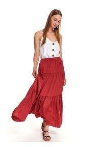 Czerwona spódnica TOP SECRET długa