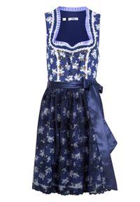 Niebieska sukienka bonprix midi, z nadrukiem