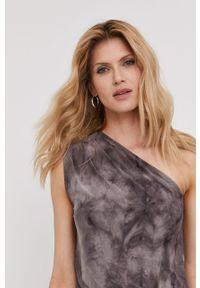 Szara sukienka Answear Lab bez rękawów, mini, dopasowana