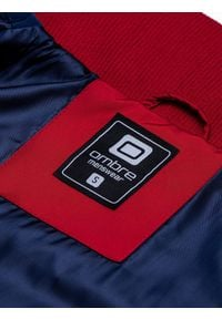 Ombre Clothing - Kurtka męska wiosenna C448 - granatowa - XXL. Typ kołnierza: kołnierzyk stójkowy. Kolor: niebieski. Materiał: poliester. Sezon: wiosna