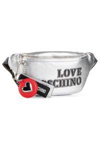 Srebrna nerka Love Moschino z aplikacjami