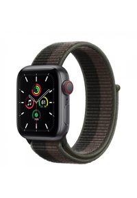APPLE - Smartwatch Apple Watch SE GPS+Cellular 44mm aluminium, gwiezdna szarość|tornado szara opaska sportowa. Rodzaj zegarka: smartwatch. Kolor: szary. Styl: sportowy