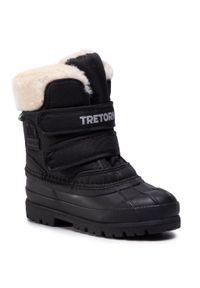 Czarne buty zimowe Tretorn