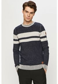 Niebieski sweter Tom Tailor na co dzień, casualowy