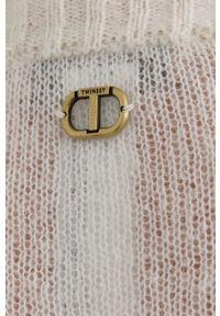 TwinSet - Twinset - Sweter. Okazja: na co dzień. Kolor: beżowy. Materiał: dzianina. Długość rękawa: długi rękaw. Długość: długie. Styl: casual