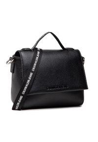 Calvin Klein Jeans - Torebka CALVIN KLEIN JEANS - Small Satchel K60K608267 BDS. Kolor: czarny. Materiał: skórzane
