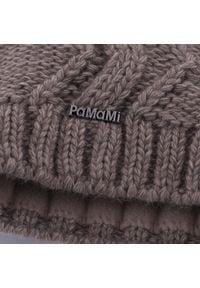 Zimowa czapka damska PaMaMi - Kawa z mlekiem. Materiał: poliamid, akryl. Sezon: zima