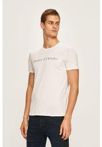 Biały t-shirt Marc O'Polo polo, z nadrukiem, na co dzień, casualowy