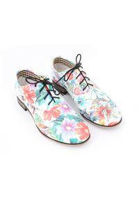 Półbuty Zapato klasyczne, na spotkanie biznesowe, wąskie, w kolorowe wzory