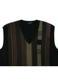 Czarny sweter elegancki, w paski