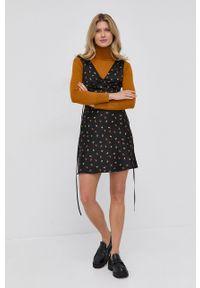 Victoria Victoria Beckham - Sukienka. Okazja: na co dzień. Kolor: czarny. Materiał: tkanina. Typ sukienki: proste. Styl: casual