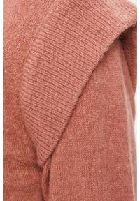 Różowy sweter Answear Lab wakacyjny, z długim rękawem, długi, z okrągłym kołnierzem #5