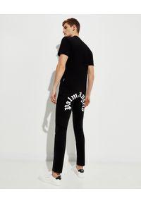 PALM ANGELS - Czarna koszulka z grafiką Pirate Bear. Kolor: czarny. Materiał: bawełna. Wzór: aplikacja. Styl: klasyczny