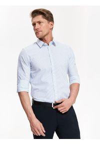 Biała koszula TOP SECRET z krótkim rękawem, na co dzień, elegancka, długa