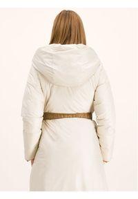 Brązowy płaszcz zimowy Marella sportowy