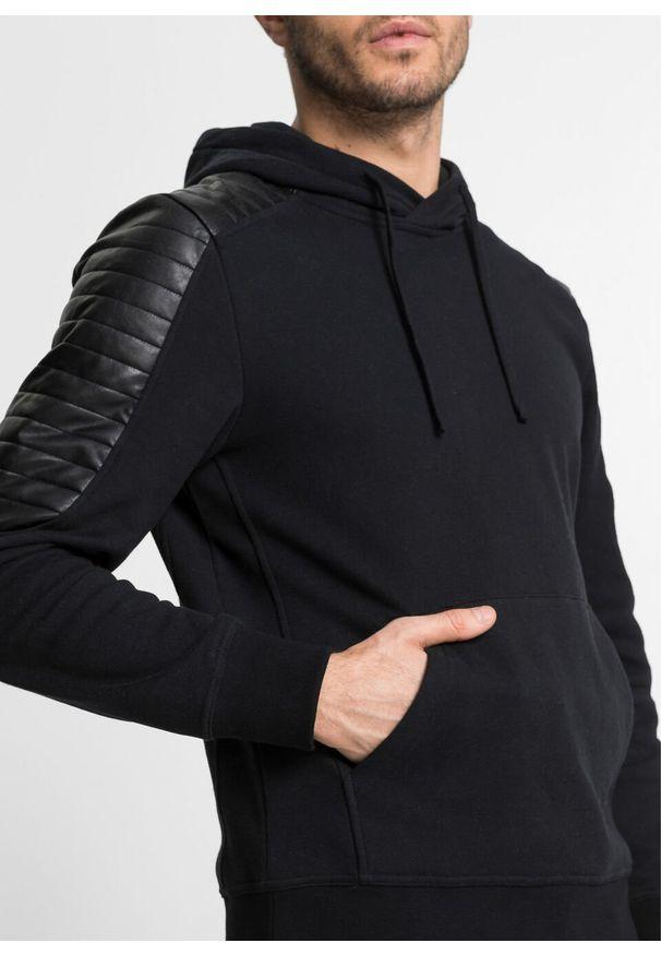 Czarna bluza bonprix z kapturem