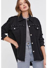 Czarna koszula Answear Lab z długim rękawem, z klasycznym kołnierzykiem, gładkie, na co dzień