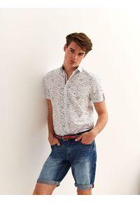 Biała koszula TOP SECRET na co dzień, z krótkim rękawem, casualowa, na lato