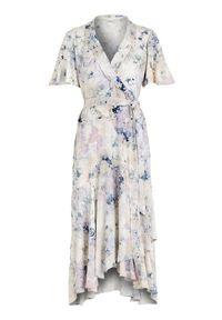 Sukienka Cellbes na lato, elegancka, z dekoltem w serek