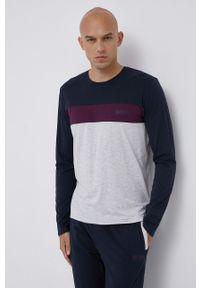 BOSS - Boss - Longsleeve piżamowy. Kolor: niebieski. Długość: długie. Wzór: nadruk