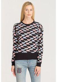 Sweter Emporio Armani z długim rękawem, krótki, na spacer