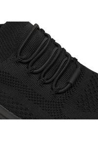 Czarne buty do fitnessu skechers na płaskiej podeszwie, Skechers Sport
